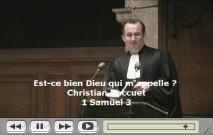 Vidéo de la prédication
