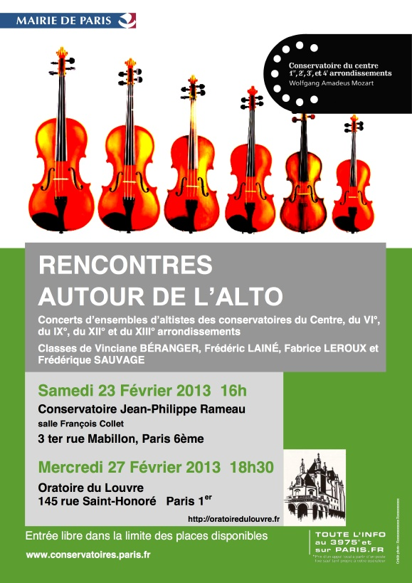 affiche du concert
