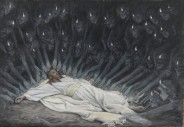 Jésus assisté par les anges, de James Tissot, Brooklyn Museum