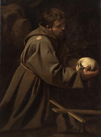 Le Caravage, «Saint François en méditation», vers 1602