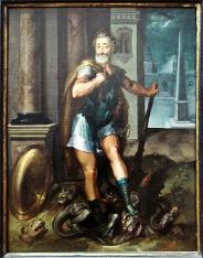 Henri IV en Hercule, peint par Toussaint Dubreuil