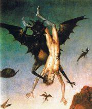 La chute des damnés (détail), Dieric Bouts (1470)