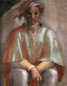 Extrait de la fresque de la chapelle sixtine par Michel Ange : Aminadab