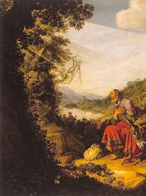 """extrait de """"Le départ d'Abraham pour Canaan"""" 1614. Saint-Petersbourg. Ermitage"""