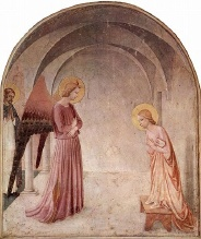 l'Annonciation, selon Fra Angelico