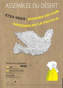 affiche de l'assemblée du désert 2015 à Mialet