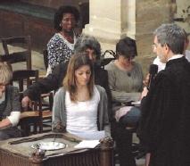 Baptême d'une adulte dans l'Oratoire