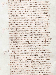 http://commons.wikimedia.org/wiki/File:Codex_alexandrinus.jpg