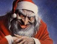 Démon déguisé en Père Noël