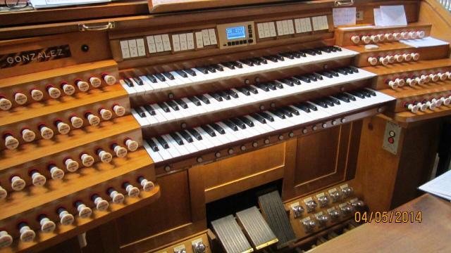 console de l'orgue de l'Oratoire