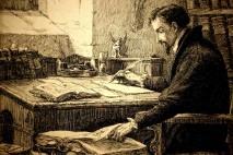 Jean Calvin travaillant