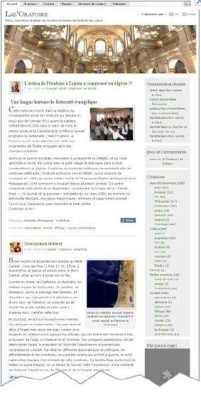 copie d'écran de ce blog