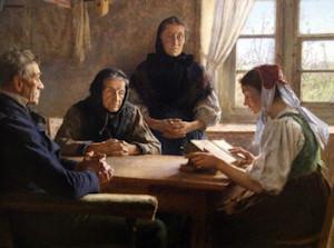 La lecture de la Bible en famille