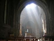 lumière dans une église