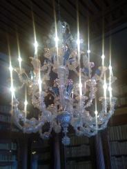 lustre en verre de Venise