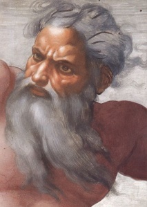 Peinture de Michel Ange représentant Dieu