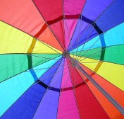 parasol multicolore