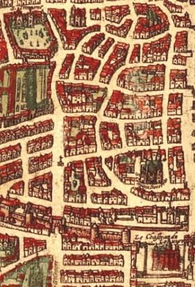 extrait d'une carte de Paris de 1572