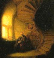 Rembrandt, Philosophe en méditation - Le Louvre, Paris