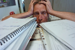 Image: 'Drowning under a mountain of paper'  http://www.flickr.com/photos/60364452@N00/4774087006 Found on flickrcc.net