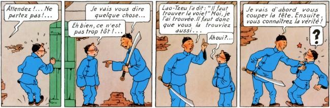 Extrait de Tintin, le lotus bleu