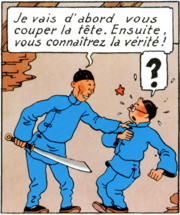 extrait du Lotus Bleu de Tintin