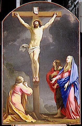 Christ en croix par Simon Vouet (1590-1649), tableau anciennement dans l'Oratoire, saisi par la Révolution